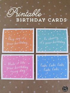 Elegance and Enchantment Printable Birthday Cards