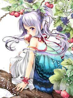 Fairy princess with wings by manga artist Shiitake.