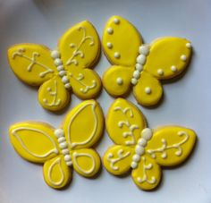 Yellow butterfly cookies