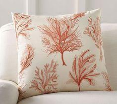 Fan Coral Applique Pillow Cover #potterybarn