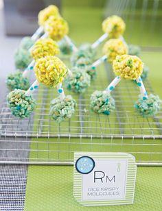 Cute & easy Rice Krispie treat molecules