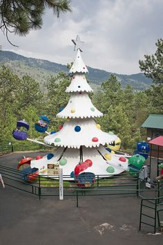 Have some family fun with Santa at the North Pole near Colorado Springs, CO. It's the only mountain amusement park: www.Santas-Colo.com