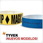 Nuevos modelos de pulseras TYVEK