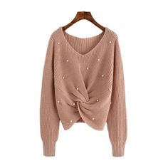 Henraly Women Autumn Bell Sleeve Lace Up Back Turtleneck Blouse Knit Sweater