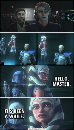 Quotes from Star Wars The Clone Wars Trailer Anakin Skywalker Alright Rex Whats so important that you brought us all the way back here Ahsoka Tano Hello Master Its been. Star Wars Mädchen, Nave Star Wars, Star Wars Books, Star Wars Girls, Star Wars Party, Star Wars Characters, Star Wars Episodes, Pokemon Mew, Pixar