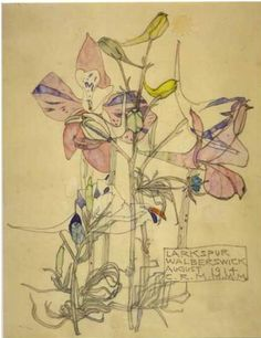 Charles Rennie Mackintosh and Margaret Macdonald, Larkspur Walberswick, August…