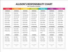 Responsibility Chart // For kid's daily chores- customize this one for Darian & get some rad sitckers!