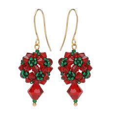 Tutorial - How to: Festive Topiary Earrings   Beadaholique