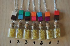 Alphabet soup necklace kids nursery cute color by Sifakacreations