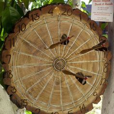 #dart board from a #tree #trunk clever! #recyclart #wood from @recyclideas