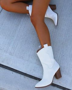 Pointed Toe Stitching Western Boots – Rosendate White Heel Boots, White Heels, Heeled Boots, Striped Long Sleeve Shirt, Long Sleeve Shirts, Mary Jane Heels, Tunic Shirt, Boots For Sale, Western Boots
