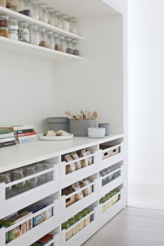 Gallery Of Bourne Road Residence By Studio Four Local Design & Interiors Glen . Gallery Of Bourne Road Residence By Studio Four Local Design And Interiors Glen Iris, Vic Image Pantry Room, Pantry Storage, Kitchen Storage, Storage Drawers, Pantry Shelving, Kitchen Drawers, Shoe Storage, Kitchen Cabinets, Kitchen Pantry Design