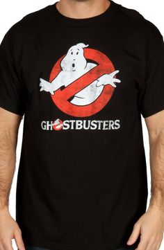 06047a3918e Distressed Glowing Ghostbusters T-Shirt