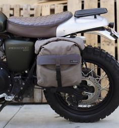 Buy Iron and Resin Terrain II Pannier Bag. Durable and robust bike pannier designed to fit most vintage and modern motorcycles. Triumph Scrambler, Scrambler Motorcycle, Triumph Motorcycles, Vintage Motorcycles, Custom Motorcycles, Custom Bikes, Indian Motorcycles, Custom Choppers, Motorcycle Design