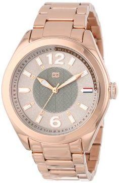Relógio Tommy Hilfiger Women's 1781369 Casual Sport Grey Dial Rose Gold Bracelet Watch #Relogio #TommyHilfiger