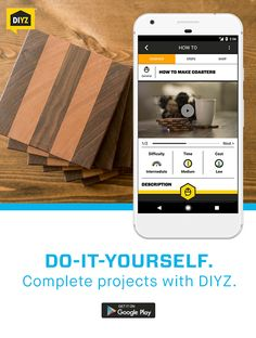 Whether you're making them for yourself or giving them as a gift, wooden coasters are always a crowd pleaser. In this intermediate-level DIY project, DIYZ can walk you through how to build ten to twelve solid wood coasters made from a variety of woods of your choosing using step-by-step instructions and how-to videos. Download the DIYZ app and learn how to make coasters today!