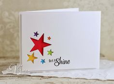 Let it Shine by Laurie Willison - Verve Stamps Inspiration Gallery Karten Diy, Star Cards, Congratulations Card, Card Making Inspiration, Paper Cards, Kids Cards, Cute Cards, Creative Cards, Greeting Cards Handmade