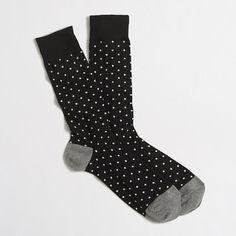 Microspot socks : Patterned socks | J.Crew Factory