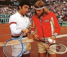 Manuel Orantes - Björn Borg Tennis Legends, Vintage Tennis, Bjorn Borg, Lawn Tennis, Ping Pong Paddles, Tennis Fashion, Sport Icon, Tennis Players, Tennis Racket