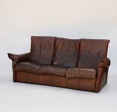 Dutch Mid Century Leather Sofa by van den Berg for Montis Retro Furniture, Antique Furniture, Mid Century Furniture, Leather Sofa, Den, Dutch, Sofas, Antiques, Home Decor