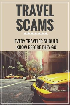 Avoiding Travel Scams when on vacation
