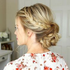 Who's going to Homecoming? 🙋💕 A new tutorial is up for this Lace Braided Updo and it would be perfect for any school dance or special occasion! 🌸 Tutorial link in my bio! #missysueblog