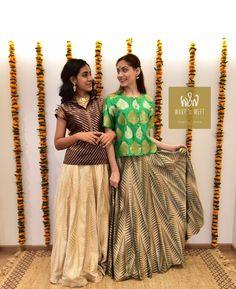 Warp 'n Weft Design Geometry in Weave Handloom Timeless Skirt Glamour Original Indian Weddings, Color Trends, Geometry, Weave, Sari, Glamour, Colours, The Originals, Skirts