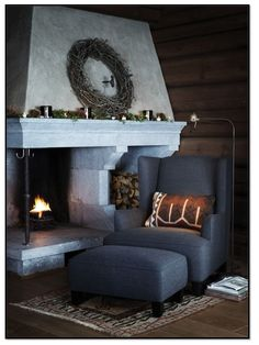 Cozy fireplace corner
