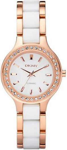 DKNY Watch, Women's White Ceramic and Rose Gold Ion Plated Stainless Steel Bracelet - Women's Watches - Jewelry & Watches - Macy's Crocs, Hugo Boss Watches, Stainless Steel Bracelet, Quartz Watch, Fashion Watches, Rose Gold Plates, Jewelry Watches, Women's Watches, White Watches