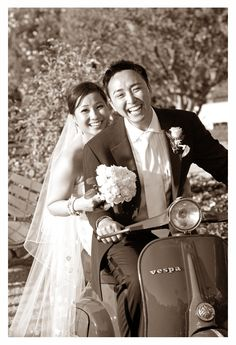 Wedding in Italy - Bride and Groom with Italian Vespa Vespa Wedding, Wedding Planner, Destination Wedding, Vespa Lambretta, Italy Wedding, Most Romantic, Dream Wedding, Groom, Wedding Photography