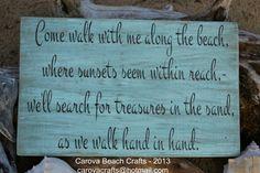 Beach Wedding - Beach Sign - Beach Decor - Personalized - Coastal - Beach Wedding Sign - Larger - Painted, No Vinyl - Rustic - Ready To Ship on Etsy, $53.00
