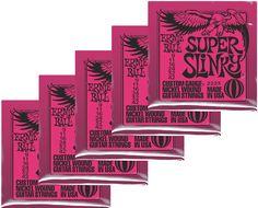 4b506c4c7347a Ernie Ball 2223 Super Slinky Nickel Wound Electric Strings 5-Pack