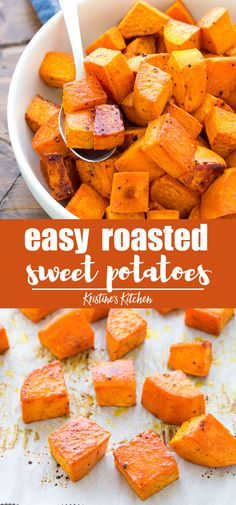 XO--crossover These honey roasted sweet potatoes with cinnamon are perfectly browned and crispy around the edges. This is one of our favorite sweet potato recipes! These healthy oven roasted sweet potatoes are an easy weeknight side dish recipe. Healthy Potato Recipes, Vegetarian Recipes, Cooking Recipes, Easy Sweet Potato Recipe, Sweat Potato Recipes, Is Sweet Potato Healthy, Roasted Potato Recipes, Healthy Potatoes, Side Dishes