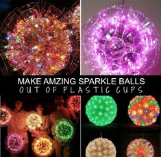 How To Build Amazing Sparkle Balls Out Of Plastic Cups | Do you need some new decorations or want something do liven up a party?