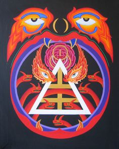 thehouseofhiddenlight:  GARY DICKINSON'S Masterpieces 13. Hell's MouthAcrylic on canvas / Sacred Geometry <3