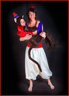 abu from aladdin costume | ... Childrenu0027s Theatre opens Aladdin Jr. - Gilbert  sc 1 st  Pinterest & DIY Magic Carpet and Abu Costumes.. Reusing this idea to make a ...