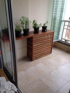 Air Conditioner Cover Outdoor, Diy Air Conditioner, Narrow Deck Ideas, Small Balcony Decor, Air Conditioning Units, Apartment Balcony Decorating, Room Design Bedroom, Home Deco, Home Projects