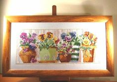 Pansies - DMC 17V- 17VI 2004r. Pansies, View Photos, Gallery, Painting, Home Decor, Decoration Home, Roof Rack, Room Decor, Painting Art