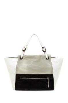 orYANY Lee Leather Handbag - black white and grey
