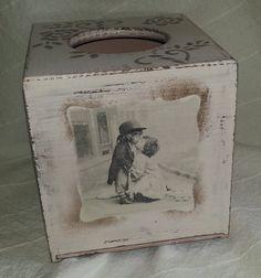 wooden tissue box children by PtahArtGallery on Etsy