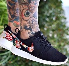 #air max#nike#flowers vs. black