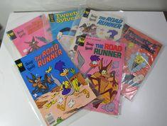 Six total comic books. Beep Beep The Roadrunner. Beep Beep The Roadrunner. Beep Beep The Roadrunner. Beep Beep The Roadrunner. Vintage Comic Books, Vintage Comics, Capitol Heights, Road Runner, Warner Bros, Tweety, 1970s, Music, Movies