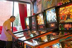This stylin' East Village skateboard shop now consists of 2 neighboring store-fronts. This is great for pinball fans, as the owner is using the second half of the shop to showcase up to 9 pinball machines from his ever-growing collection.