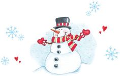 Mr. Snowman. Original Gooseberry Patch artwork.