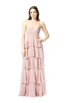 2fef57c3773 Bari Jay 1860 Tiered Chiffon Bridesmaid Dress