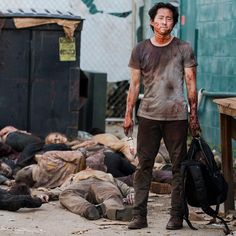 """The Walking Dead Season 6 Episode 7 """"Heads Up"""" Glenn Rhee Glenn The Walking Dead, The Walk Dead, Walking Dead Season 6, Walking Dead Tv Series, Walking Dead Zombies, Twd Glenn, Glenn Y Maggie, Glenn Rhee, Carl Grimes"""