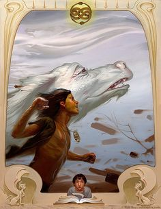 Creative Paintings by Rob Rey ~ Isn't this from Never-Ending Story?  I loved that movie!
