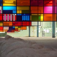 design-dautore.com: Daniel Buren -- Daniel Buren à l'exposition au Galleria Continua Mouli (1)