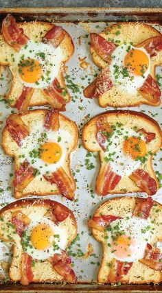 Sheet Pan Egg-in-a-Hole A quick classic that comes together right on a sheet pan! Less mess, less fuss and just way easier than the stovetop version! - 40 Excellent Egg Recipes: Best For Breakfast Or Brunch Cooking Recipes, Healthy Recipes, Healthy Food, Healthy Eating, Damn Delicious Recipes, Healthy Heart, Chef Recipes, Cooking Tips, Keto Recipes