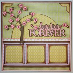 2 page scrapbook layout ideas | This gorgeous cherry blossom tree is from the Little Scraps of Heaven ...